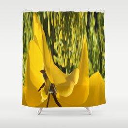 494 -Abstract Flower Design Shower Curtain