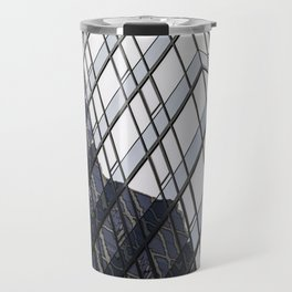 blue glass and steel abstract urban design Travel Mug