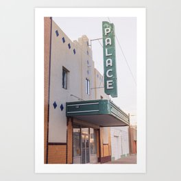 Palace Theater Marfa Texas Art Print