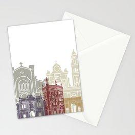 Parma skyline poster Stationery Cards