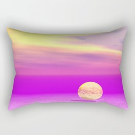 Adrift, Abstract Gold Violet Ocean Rectangular Pillow