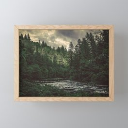 Pacific Northwest River - Nature Photography Framed Mini Art Print