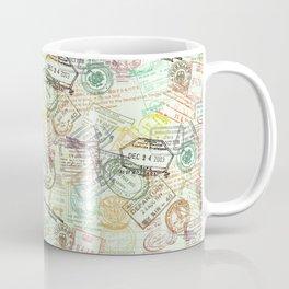 Passport Stamps Coffee Mug