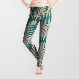 Summer Fern Pattern Leggings