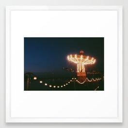 Autumn spinning Framed Art Print
