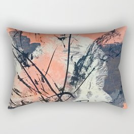 Perennial: abstract floral painting by Alyssa Hamilton Art Rectangular Pillow