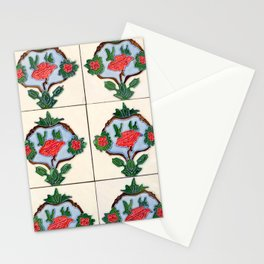 Antique Floral Pattern Wall Tile Penang Stationery Cards