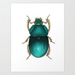 Jewel Scarab Art Print