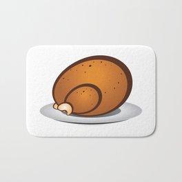 Roasted turkey Bath Mat