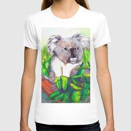 Koala hanging in a tree T-shirt