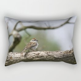 Sparrow in Tree Rectangular Pillow