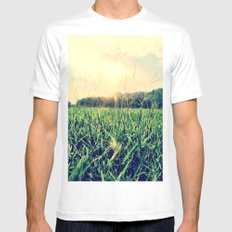 In the Grass White Mens Fitted Tee MEDIUM
