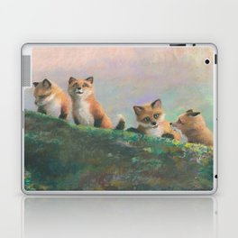Red Fox Kits First Outing Laptop & iPad Skin