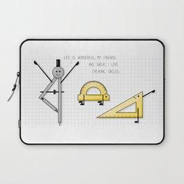 Geometry yoga class fun cartoon Laptop Sleeve