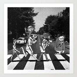SCABBY RD. Art Print