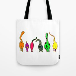 Colorful Cat Butts Tote Bag