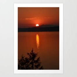 Puget Sound Sunset Art Print