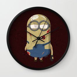 Zombie minion Wall Clock
