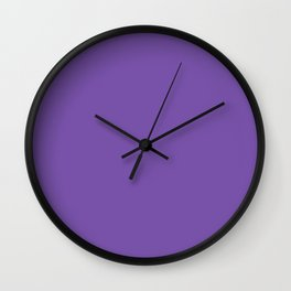 From The Crayon Box – Royal Purple - Bright Purple Solid Color Wall Clock