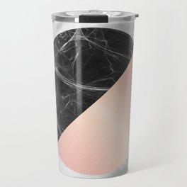 Carrara Italian Marble Black and Pink Travel Mug