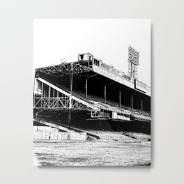 Black and White Detroit Tiger Stadium Demolition Print Metal Print