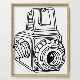 Medium Format SLR Camera Drawing Serving Tray