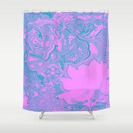 Lotus Surfer Shower Curtain