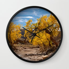 Autumn - Little_Wild_Horse_Canyon Trail, Utah Wall Clock