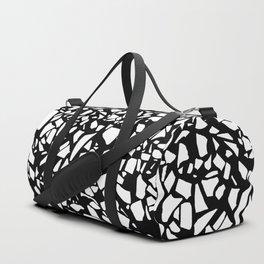 Terrazzo White on Black Duffle Bag
