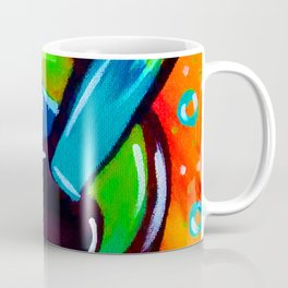 Blue Funky Guitar Coffee Mug