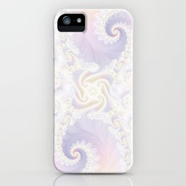 Beautiful Wedding Dress Fractal for the Princess of Pearls iPhone Case