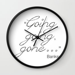 Going, going, gone... Banksy Wall Clock