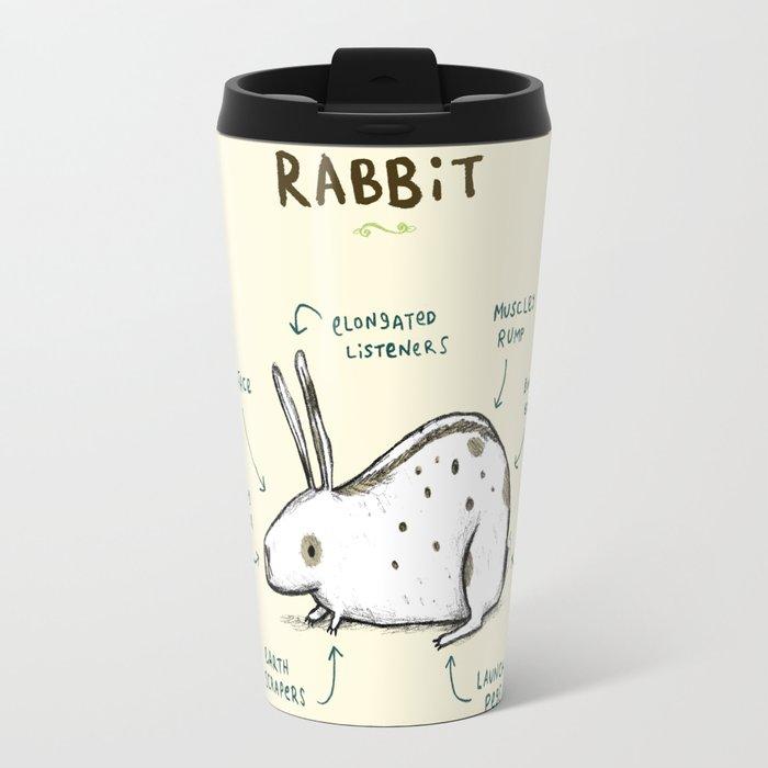 Anatomy of a Rabbit Travel Mug by sophiecorrigan   Society6