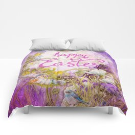 Purple Easter Comforters