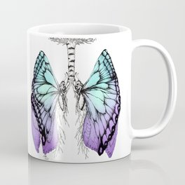 Butterfly Lungs Blue Purple Coffee Mug