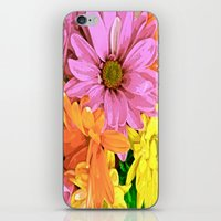 daisy iPhone & iPod Skins featuring Daisy by Saundra Myles