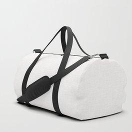 Textured white Duffle Bag