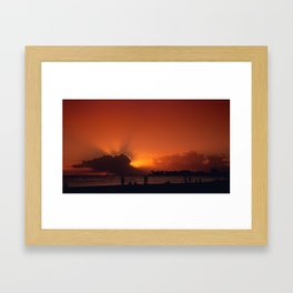 Hawaii Sunset - Ala Moana Beach Framed Art Print