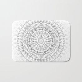 Light Grey White Mandala Bath Mat