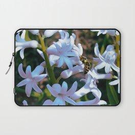 Bee on the hyacinth flower Laptop Sleeve