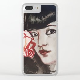 Rosie Clear iPhone Case