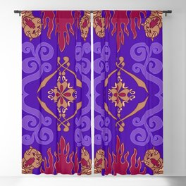 Flying Carpet Aladdin Purple Magic Carpet Blackout Curtain