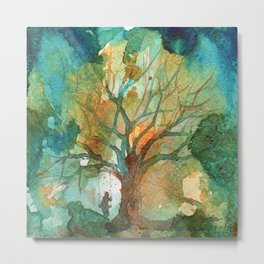 Tree and His Person Metal Print