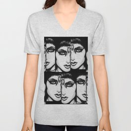 Cleopatra Black Kajal Unisex V-Neck