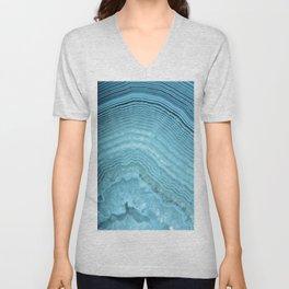 Blue Agate Crystal Unisex V-Neck
