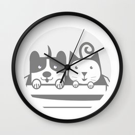 my Pets 02 Wall Clock