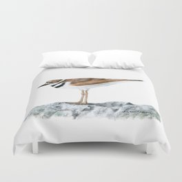 Killdeer Art 1 by Teresa Thompson Duvet Cover