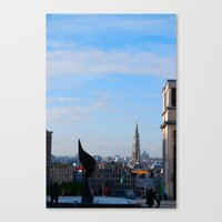 brussels Canvas Prints featuring Brussels by Bethany O'Meara