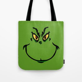 Grinch Smile - Green Cheeky Smirk Tote Bag