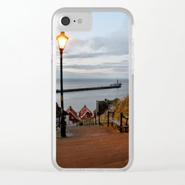 Whitby Steps Blue Hour Clear iPhone Case